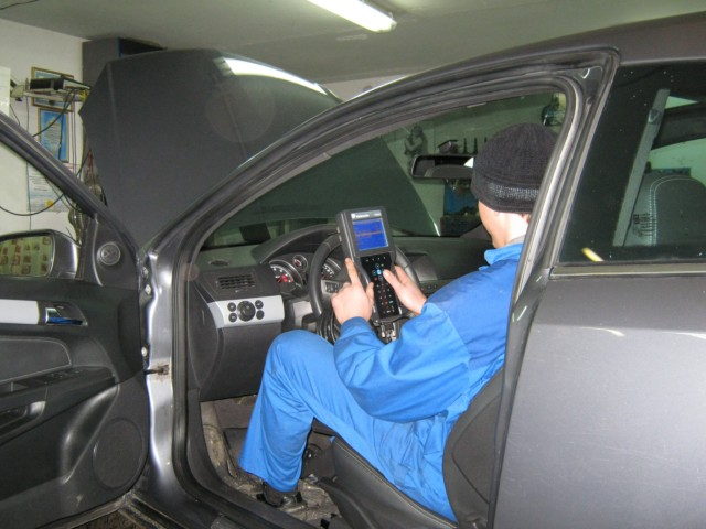 Диагностика прибором GM Tech2